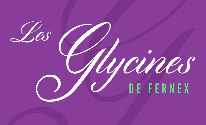 Les Glycines de Fernex, Jean-Charles GIEN, création graphique : identité visuelle, logo, brochure, plaquette à Mâcon (71) et Lyon (69)