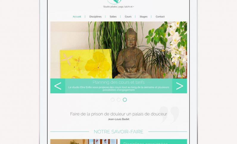 Galerie du projet : Studio Etre Enfin, Jean-Charles GIEN, création de sites Internet à Mâcon (71) et Lyon (69)