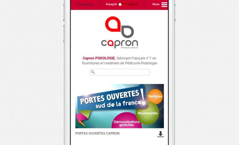 Galerie du projet : Capron Podologie, Jean-Charles GIEN, création de sites Internet à Mâcon (71) et Lyon (69)
