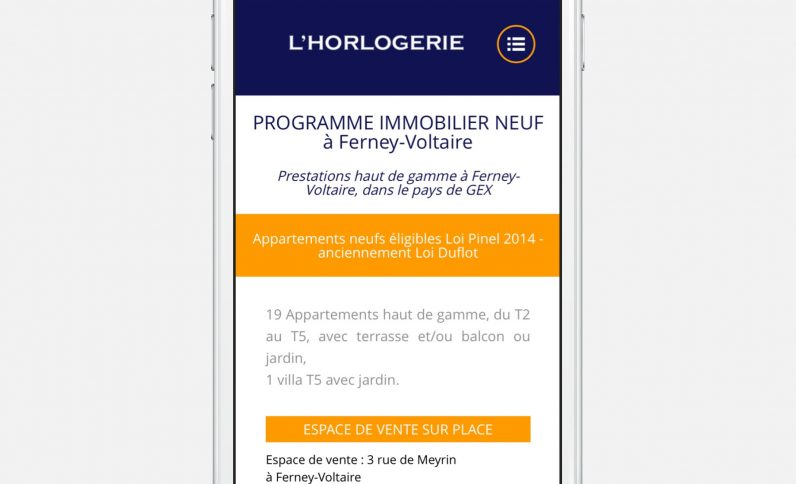 Galerie du projet : L'Horlogerie, Jean-Charles GIEN, création de sites Internet à Mâcon (71) et Lyon (69)