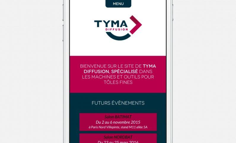 Galerie du projet : Tyma Diffusion, Jean-Charles GIEN, création de sites Internet à Mâcon (71) et Lyon (69)