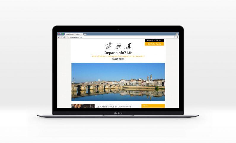 Galerie du projet : Société DepannInfo, Jean-Charles GIEN, création de sites Internet à Mâcon (71) et Lyon (69)