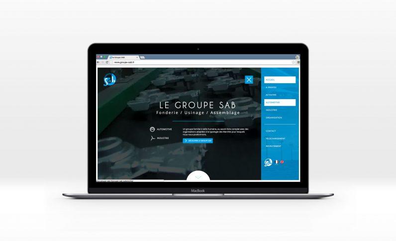 Galerie du projet : Groupe SAB, Jean-Charles GIEN, création de sites Internet à Mâcon (71) et Lyon (69)