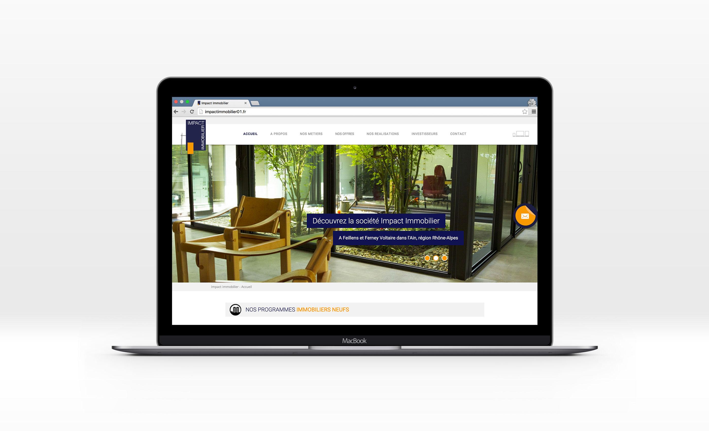 Impact Immobilier, Jean-Charles GIEN, création de sites Internet à Mâcon (71) et Lyon (69)