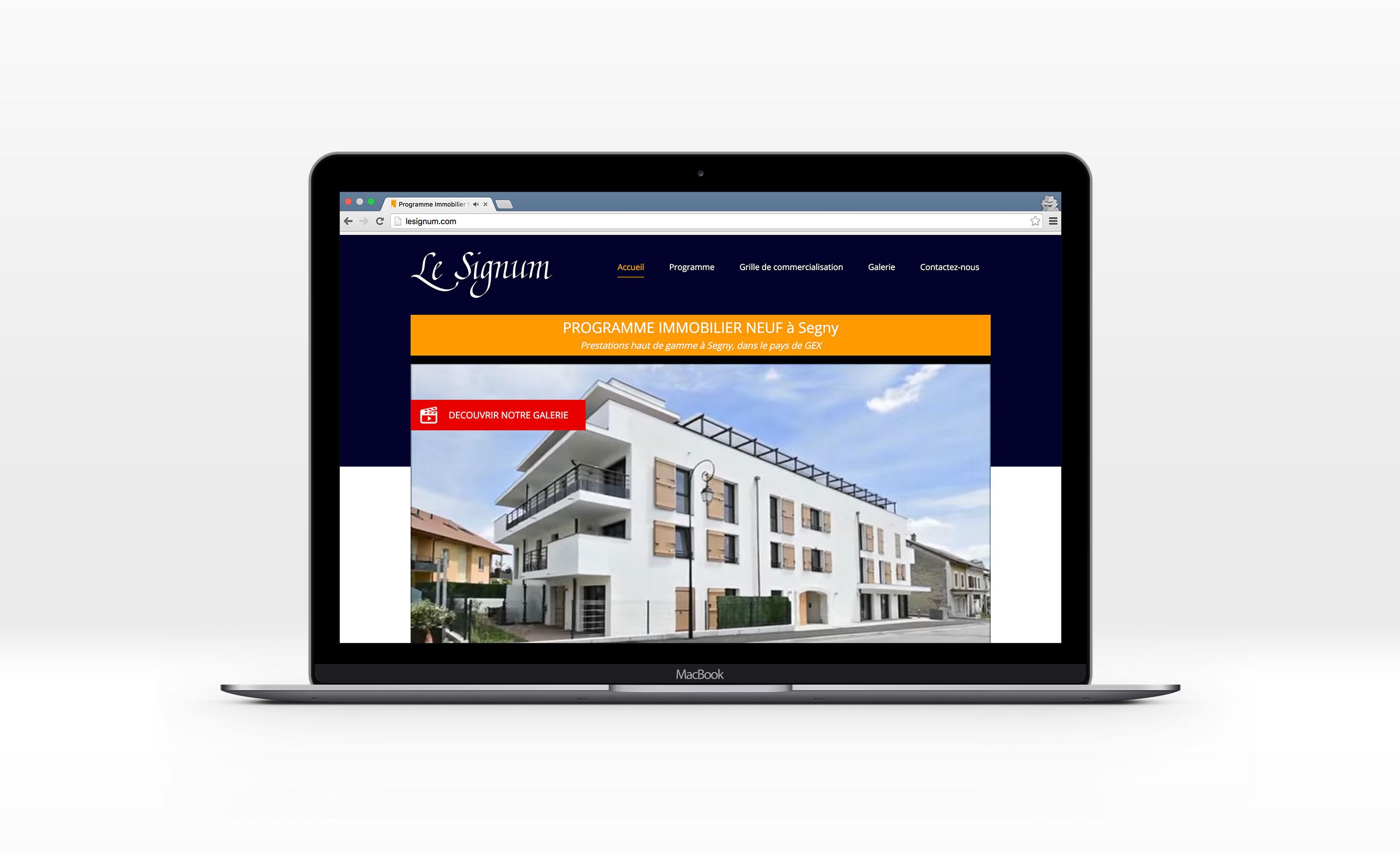 Le Signum Immobilier, Jean-Charles GIEN, création de sites Internet à Mâcon (71) et Lyon (69)