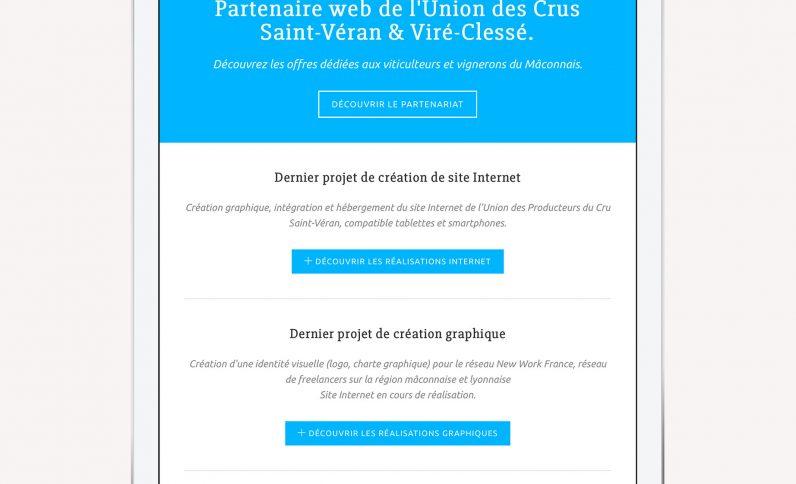 Galerie du projet : JCG, Jean-Charles GIEN, création de sites Internet à Mâcon (71) et Lyon (69)