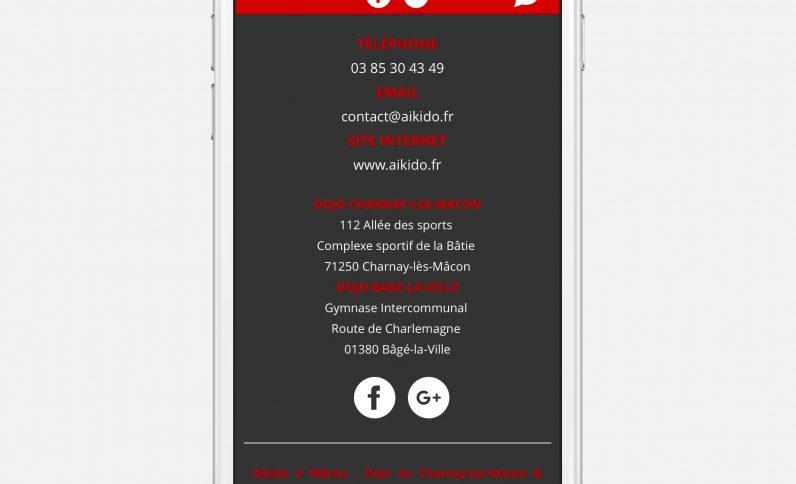 Galerie du projet : Dojo Aïkido Mâcon, Jean-Charles GIEN, création de sites Internet à Mâcon (71) et Lyon (69)