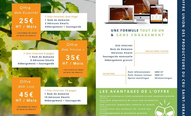 Galerie du projet : Cru Saint-Véran, Jean-Charles GIEN, création de sites Internet à Mâcon (71) et Lyon (69)