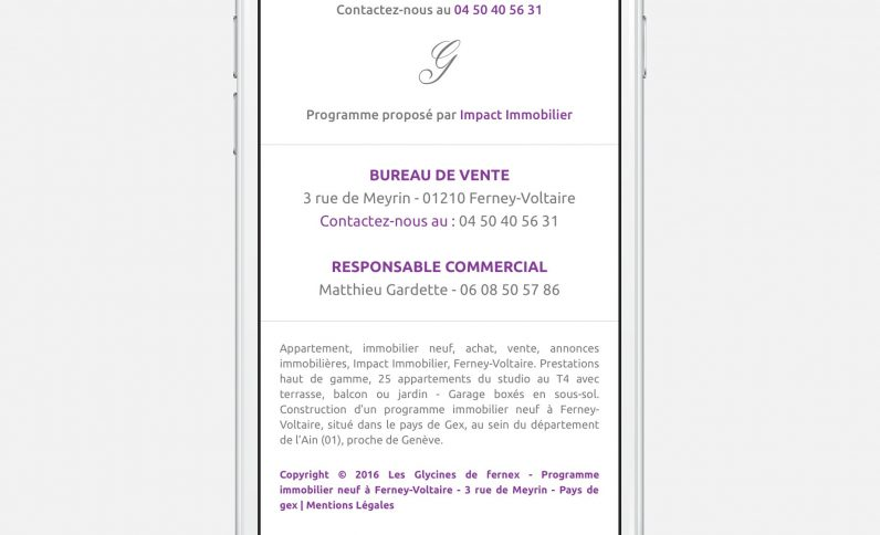 Galerie du projet : Les Glycines de Fernex, Jean-Charles GIEN, création de sites Internet à Mâcon (71) et Lyon (69)