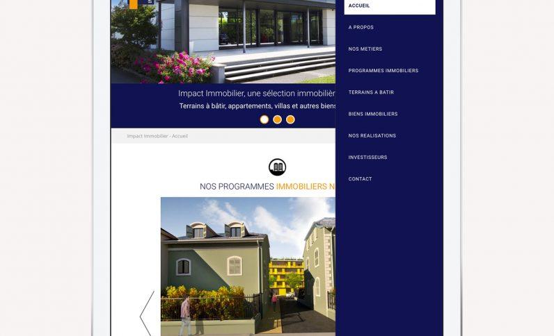 Galerie du projet : Impact Immobilier, Jean-Charles GIEN, création de sites Internet à Mâcon (71) et Lyon (69)