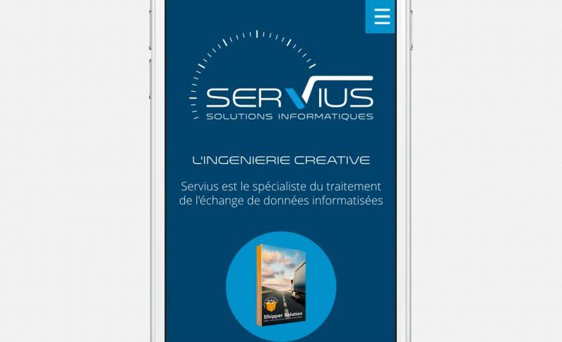 Galerie du projet : Société Servius, Jean-Charles GIEN, création de sites Internet à Mâcon (71) et Lyon (69)