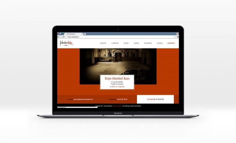 Galerie du projet : Dojo Henkeikan, Jean-Charles GIEN, création de sites Internet à Mâcon (71) et Lyon (69)