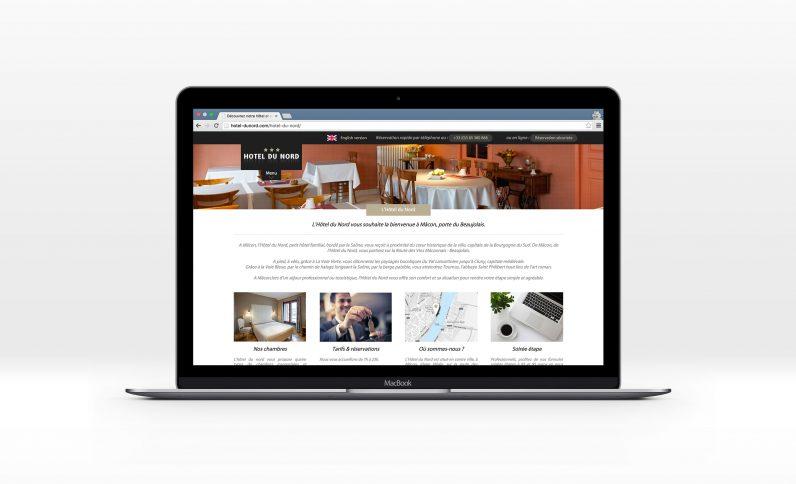 Galerie du projet : Hotel du Nord, Jean-Charles GIEN, création de sites Internet à Mâcon (71) et Lyon (69)